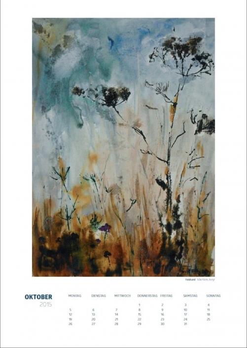 Theresa Fritz: Kalender 2015 - Oktober