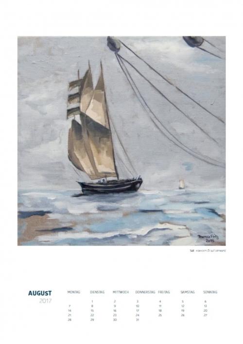 Theresa Fritz: Kalender 2017 - August