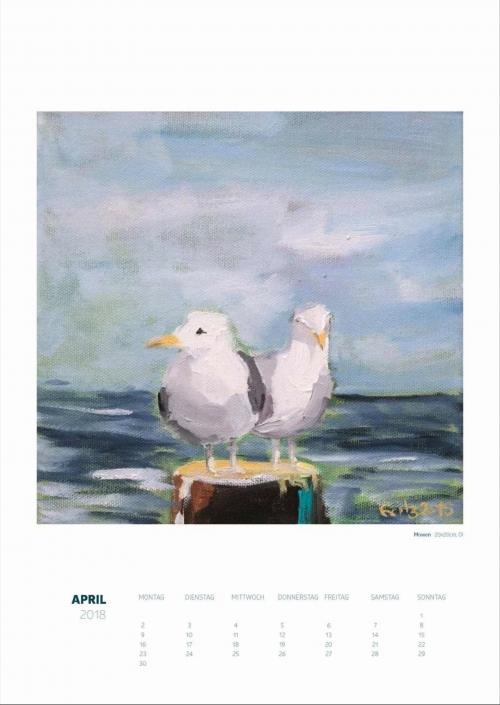 Theresa Fritz: Kalender 2018 - April