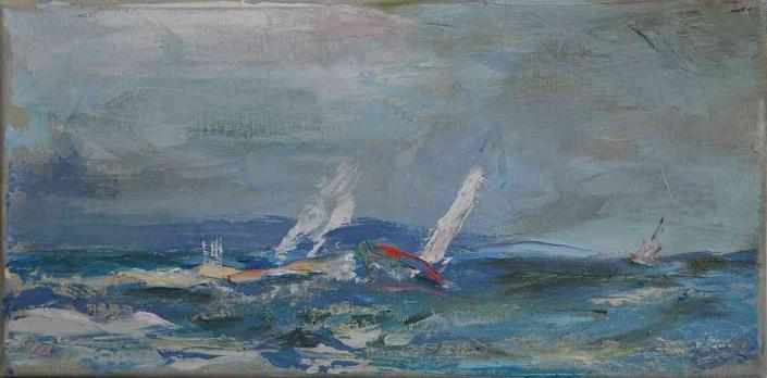 Wind - Öl - 40x20cm