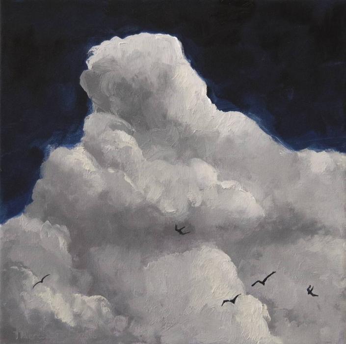 Wolken 2 - Öl - 50x50cm