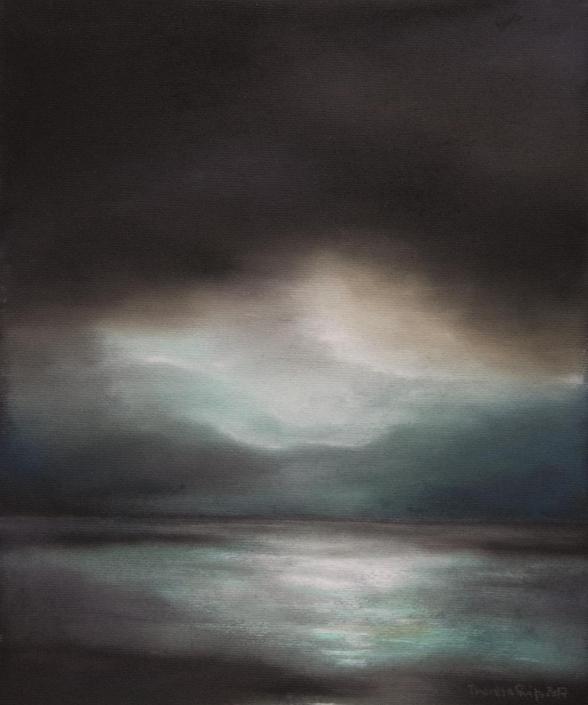 Wolkenverhangen - Pastell - 31x37cm