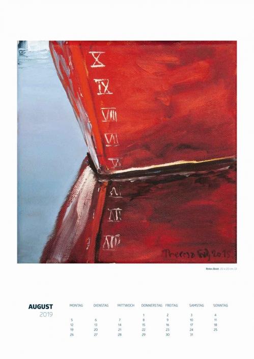 Theresa Fritz: Kalender 2019 - August
